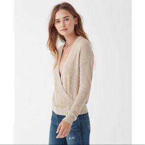 Splendid Waffle-Knit Cashmere Blend Sweater